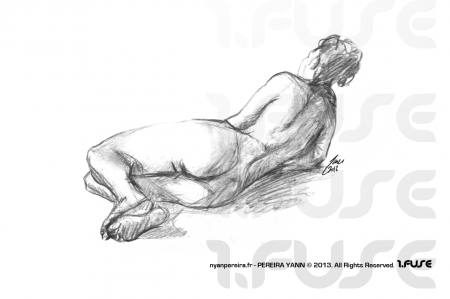 Artiste Freelance en PACA / Yann.Pereira modele vivant nu femme.2013