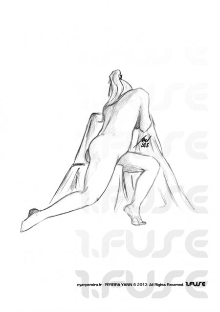 Artiste Freelance à draguignan / Yann.Pereira modele vivant nu femme.2013