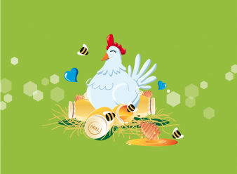 Illustrateur Alimentaire  & Illustration à Cannes / Yann PEREIRA poule aux miels