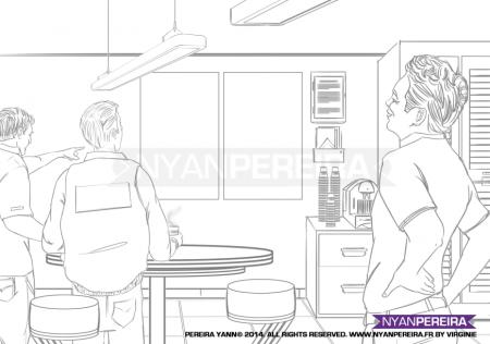 Dessinateur.Paca.RoughMan. Situation.film.storyboard.traits.Yann.pereira