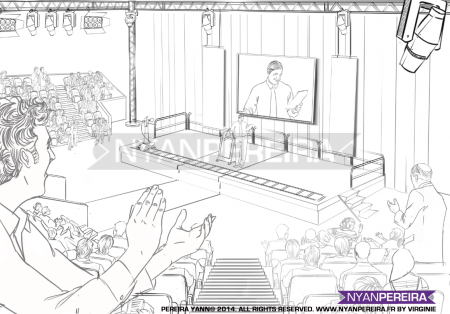 Dessinateur.Paca.RoughMan. Situation.organisation.storyboard.traits.Yann.pereira.meeting.politique