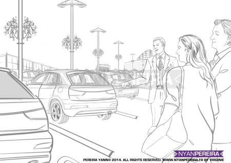 Dessinateur.voiturePaca.RoughMan. Situation.film.storyboard.traits.Yann.pereira