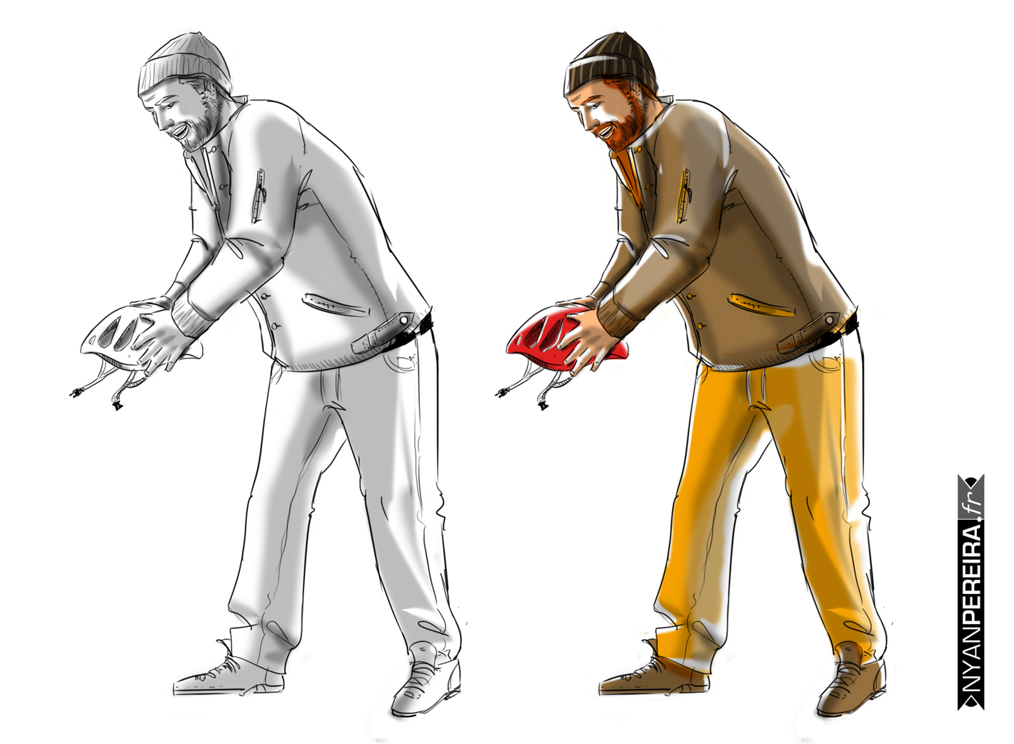 evolution.dessin.publicite;roughman