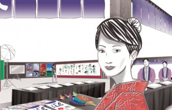 Dessinateur.Visage. japonaise. salon.roughman.Yann.Pereira.Tradition.