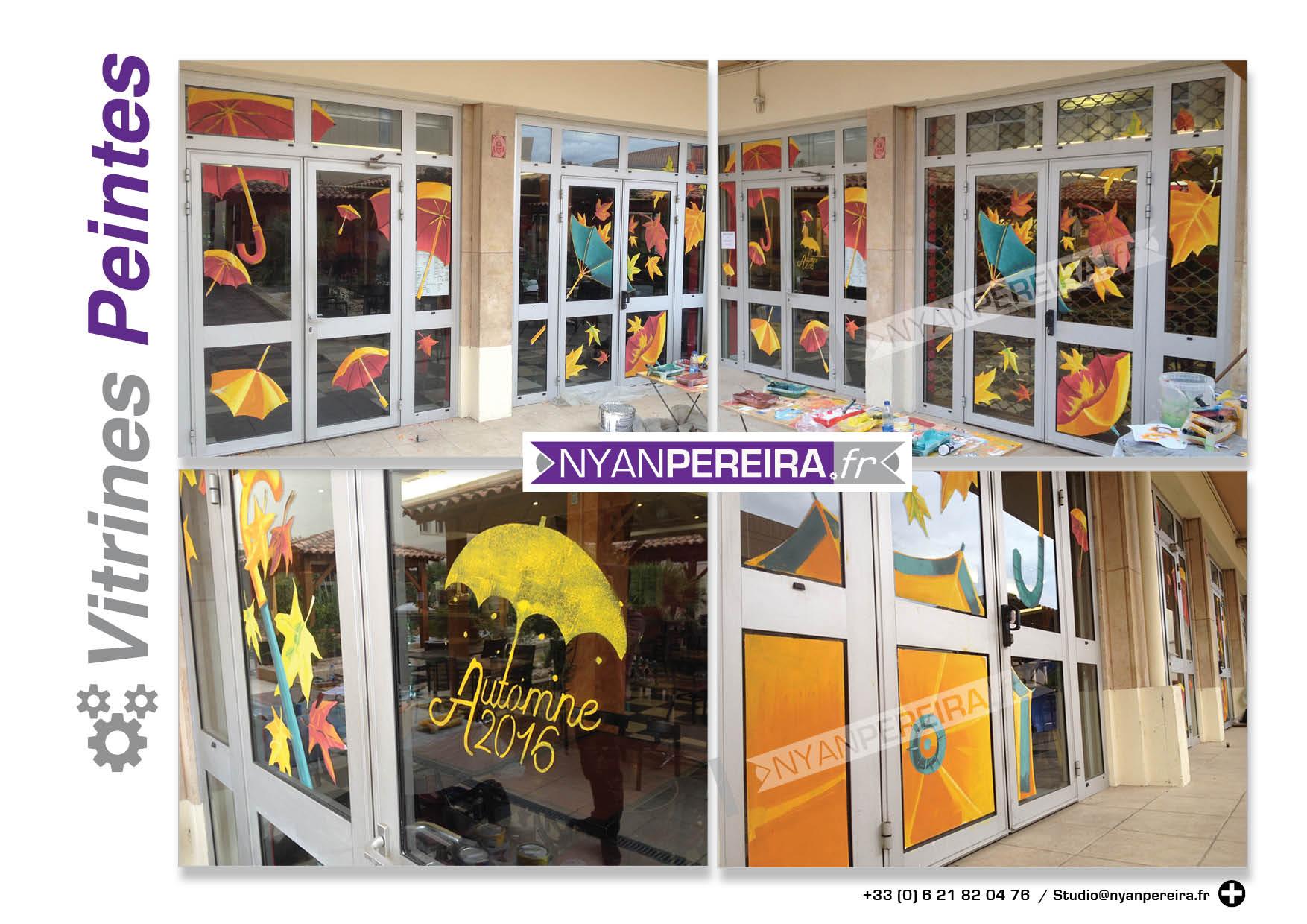 automne-decoration-vitrine-peinture-artiste-parapluie-vent-artiste-france2