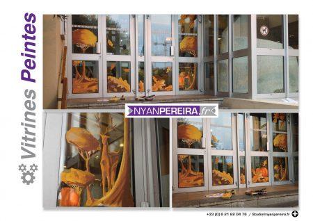 automne-decoration-vitrine-peinture-artiste-parapluie-vent-artiste-france4