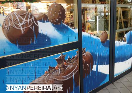 vitrinepeinte-centre-commercial-decoration-noel-buche-chocolat-3