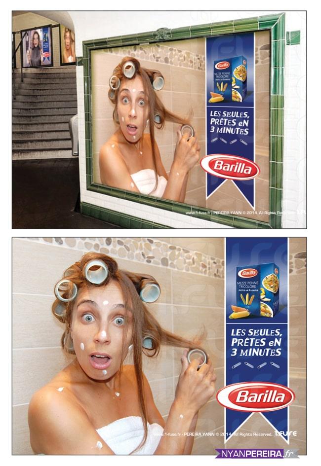 photographe portrait publicitaire, serie portrait femme, campagne pub barilla