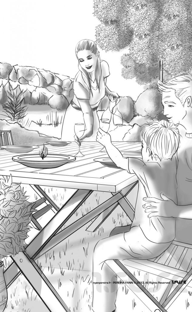 Jadrin Famille dessin Roughs Serie drawing digital