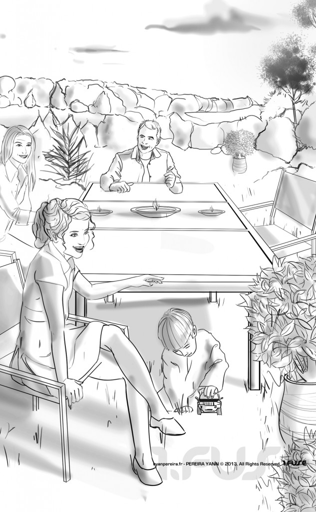 Storyboarder freelance template pub Roughs Serie drawing digital