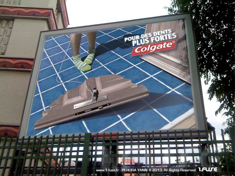 photomontages publicitaires colgate affichage