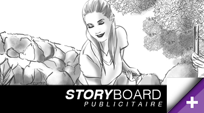 Storyboard template pub Roughs Serie drawing digital