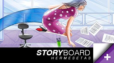Hermesetas Storyboard template pub stroryboarding dessin femme running mouvement film