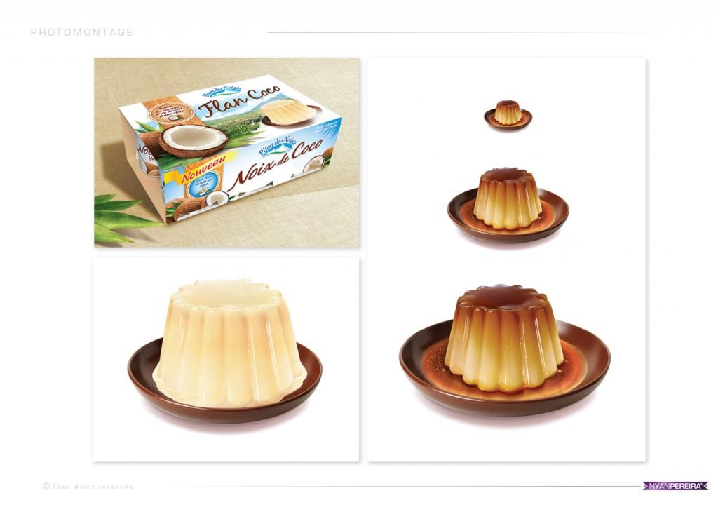 illustration Alimentaire photomontage yaourt