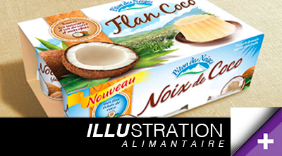 ILLUSTRAION Photo Alimantaire yaourt packshot