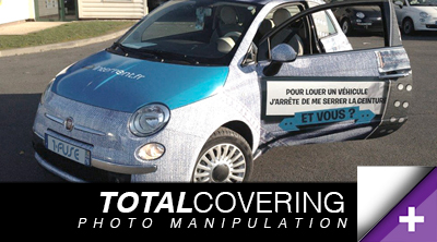 Photo manipulation total.covering vehicule tourisme sticker voiture