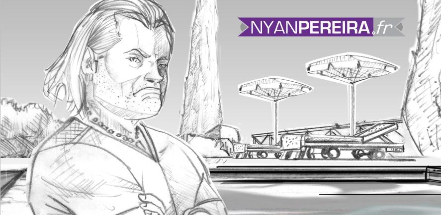 storyboard publicitaire dessin philippe lucas entraineur