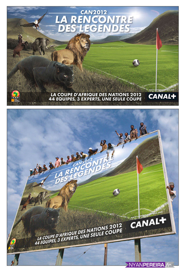 Animals Photo Manipulation campagne publicitaire adswords