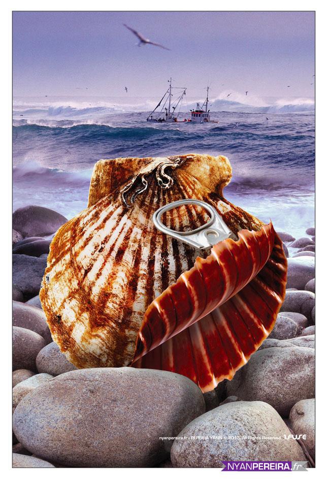 illustration Alimentaire concepte photo manipulation suréaliste