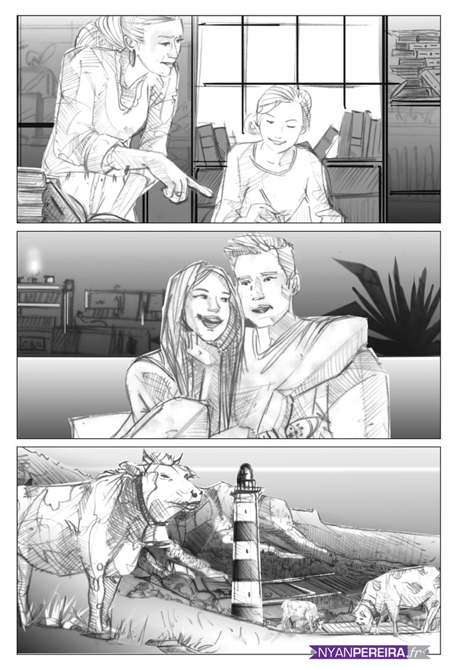 Storyboard film publicitaire life style danone