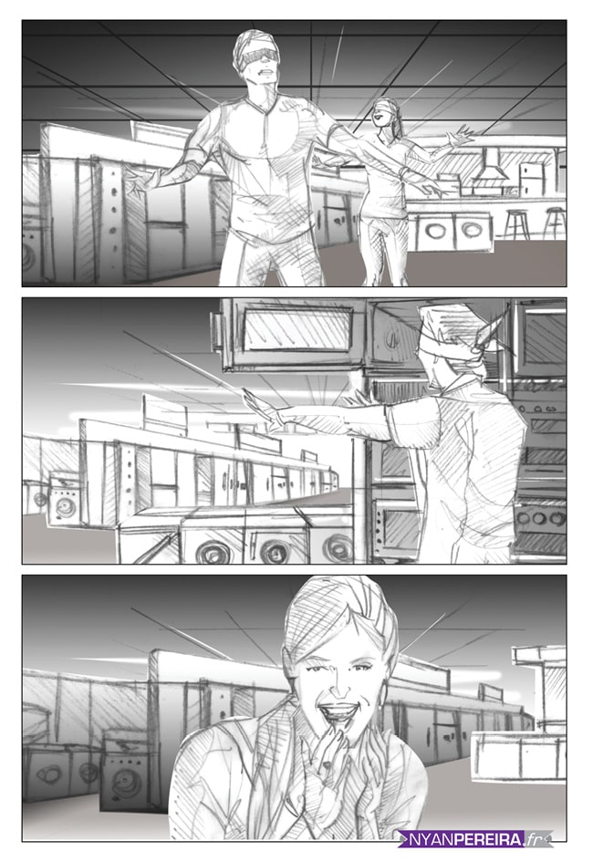 Storyboard film publicitaire