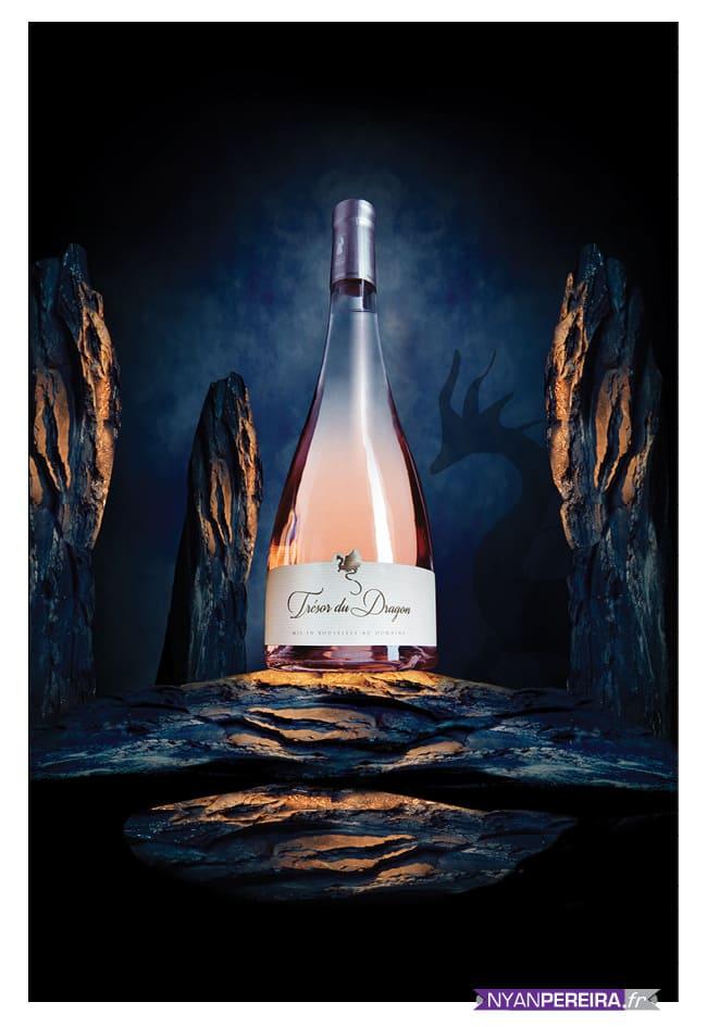 packshot Photographe vins spiritueux Rosé