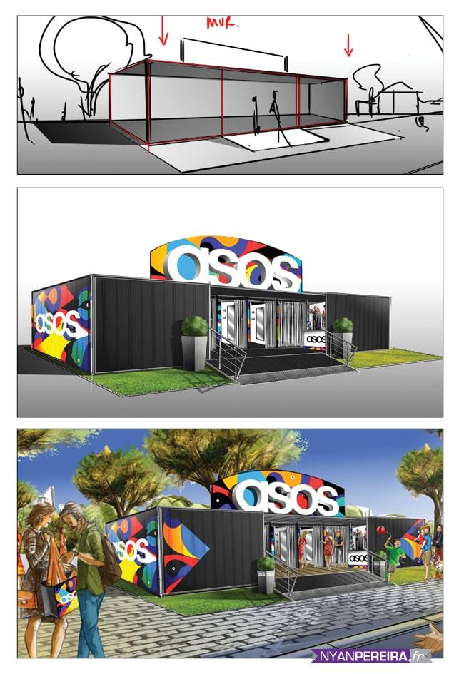 ASOS magasin - Roughs Évènementiels Pop-Up Store