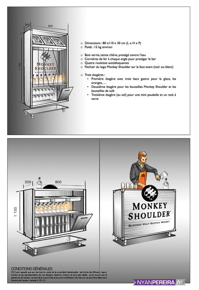 Roughs Évènementiels Monkey shoulder Whisky concept pop-up store