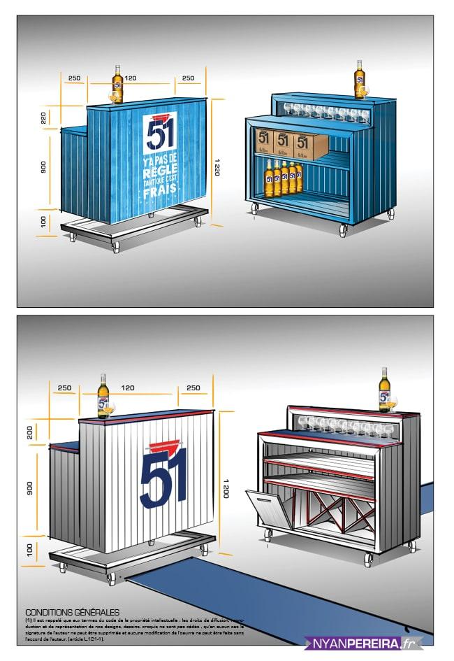 concept de boutique éphémère Pastis 51