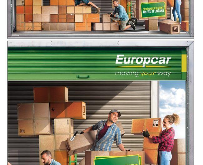 EUROPCAR photo manipulation campagne covering europcar Tetris game photographe studio freelance paris
