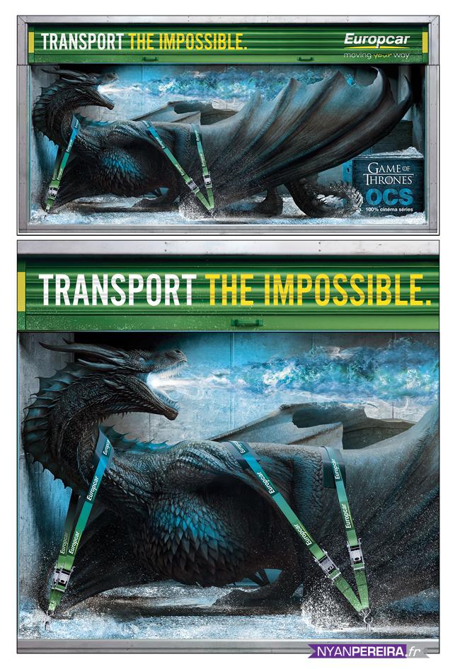CAMION EUROPCA Totalcovering Animals Photo-Manipulation dragon got photographe pub freelance
