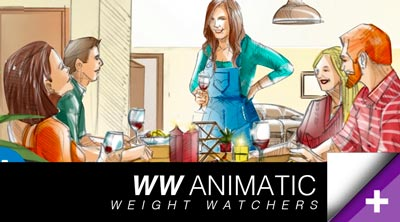 Weight Watchers / Production Anmatics préprod & storyboarding
