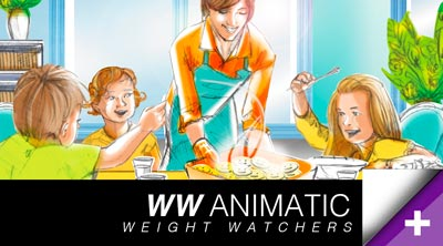 Animatics.pub.Weight-Watchers.campagne.publicite.pre-test.marketing.storyboarder.freelance-2