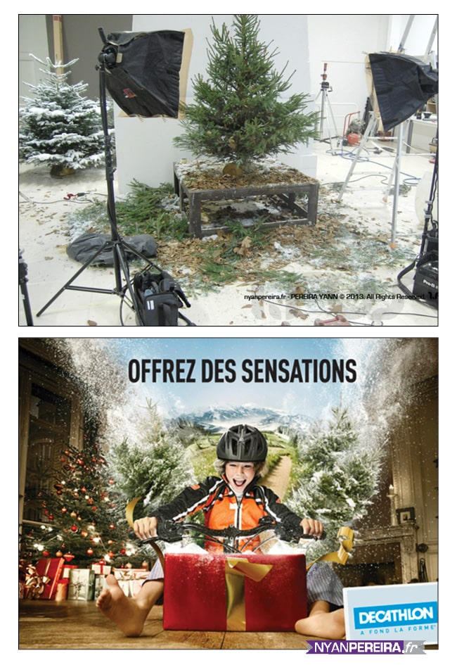 photographe PUB noël decathlon Photo Manipulation