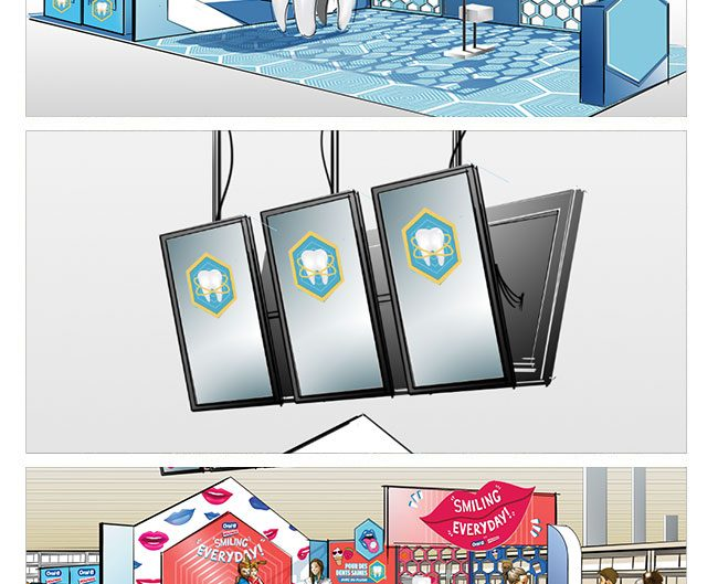 ORAL-B.marketing.roughman.scenographe.freelance.thetralisation.in-store.concept.store.creation.pop.up.in.out-store
